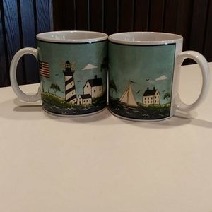 Other - Coffee Mugs Coastal Breeze 2pc
